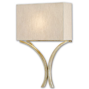 Corn Silver Leaf One-Light Fluorescent Wall Sconce