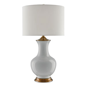 Lilou White and Antique Brass One-Light Table Lamp