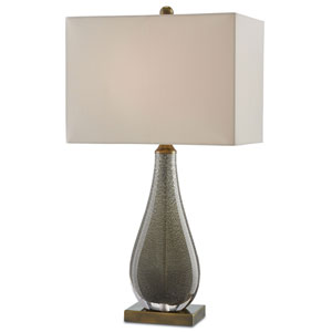 Nightfall Charcoal Brown and Antique Brass One-Light Table Lamp