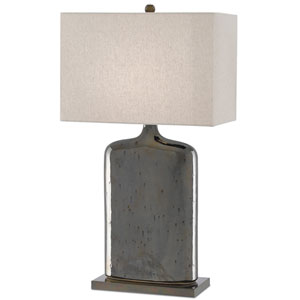 Musing Rustic Metallic Bronze and Bronze One-Light Table Lamp