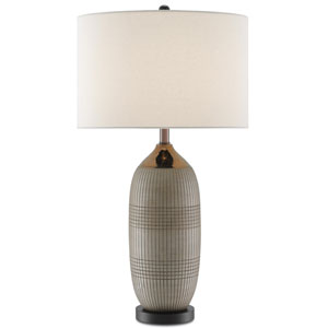 Alexander Matte and Glossy Gold and Black One-Light Table Lamp