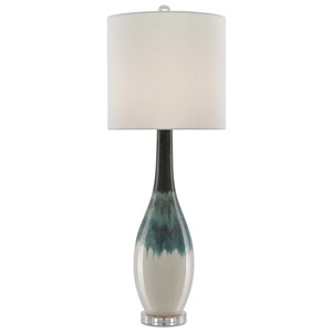 Rothko Green and Turquoise and Clear One-Light Table Lamp