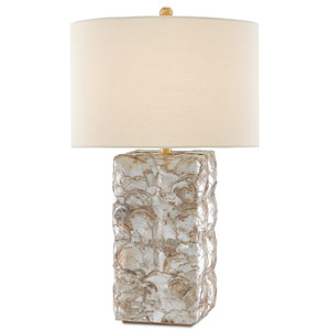 La Peregrina Natural Capiz and Gold Leaf One-Light Table Lamp