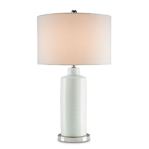 Elissa Off White and Polished Nickel Table Lamp