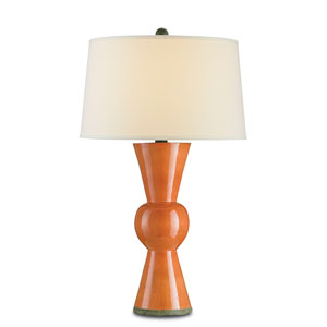 Orange  One-Light Upbeat Table Lamp