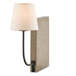 Oldknow Aged Steel One-Light Bookcase Lamp