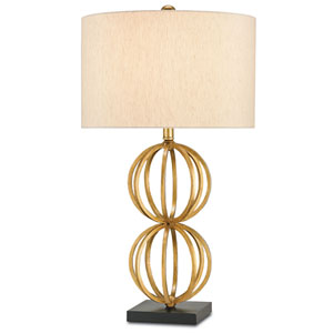 Ornament Chinois Antique Gold Leaf One-Light Table Lamp