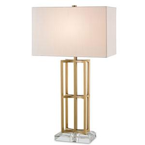 Devonside Coffee Brass One-Light Table Lamp