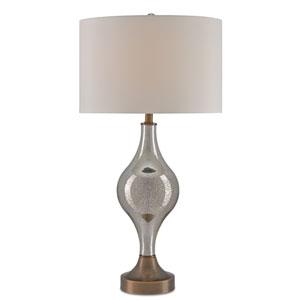 Tara Gold Mercury Glass One-Light Table Lamp