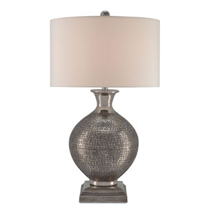 Evolution Antique Nickel One-Light Table Lamp