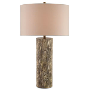 Landseer Antique Brass One-Light Table Lamp