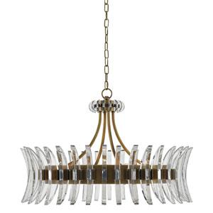 Coquette Antique Brass Eight-Light Chandelier