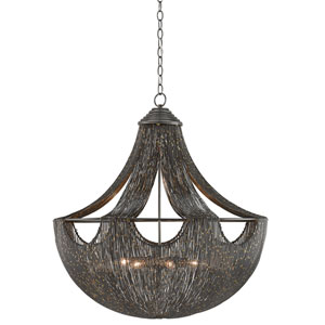 Eduardo Natural Iron and Brass Six-Light Pendant
