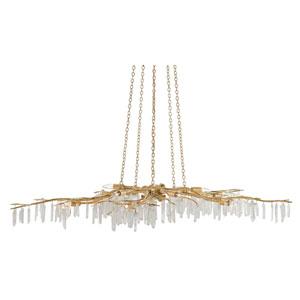 Forest Light Washed Lucerne Gold and Natural 10-Light Chandelier