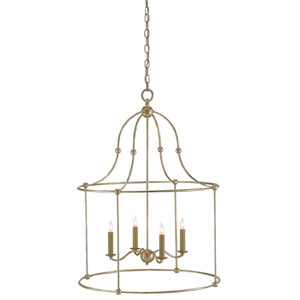 Fitzjames Silver Granello Four-Light Chandelier