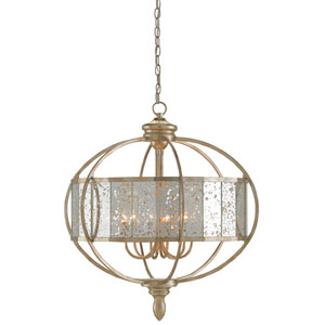 Florence Silver Granello Six-Light Chandelier