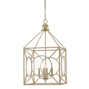 Beckmore Silver Leaf Four-Light Chandelier