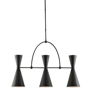 Gino Black Six-Light Chandelier