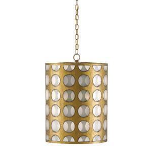 Go-Go Brass and Opaque Three-Light Pendant