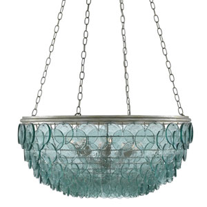 Quoram Silver Leaf Eight-Light Chandelier