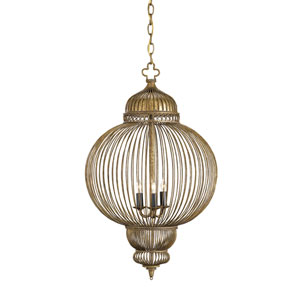 Giltspur Rustic Gold/Antique Black Three-Light Chandelier