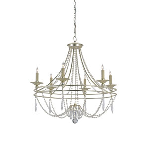 Watteau Silver Granello Six-Light Chandelier