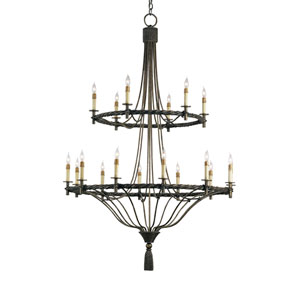 Priorwood Pyrite Bronze Eighteen-Light Chandelier