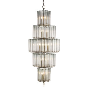Bevilacqua Silver Leaf 18-Light Chandelier