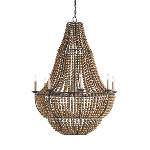 Falconwood Olde Bronze 32-Inch Eight-Light Chandelier