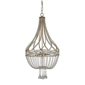 Ingenue Silver Leaf 14-Inch Four-Light Pendant