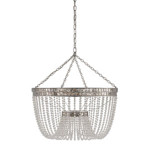 Highbrow Contemporary Silver Leaf Eight-Light Pendant