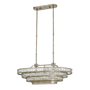 Frappe Silver Granello 36-Inch Three-Light Pendant