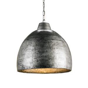 Earthshine Blackened Steel Pendant