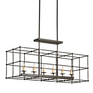 Fitzjames Mayfair Rectangular Six-Light Pendant