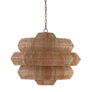 Antibes Khaki Nine-Light Pendant