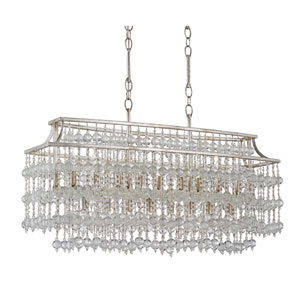 Rainhill Silver Granello 17-Light Linear Pendant