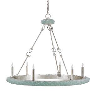 Tidewater Silver Granello Six-Light Chandelier