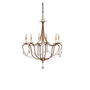 Crystal Lights Rhine Gold Small Chandelier