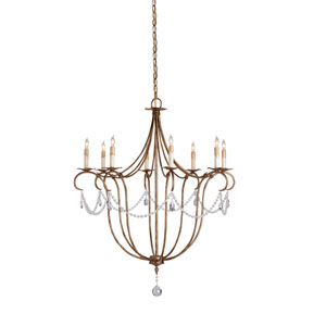 Crystal Light Rhine Gold Large Chandelier