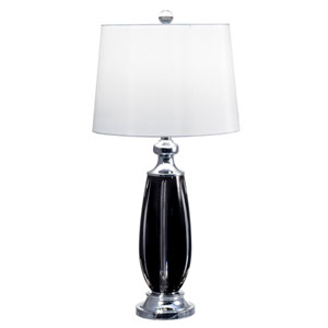 Polished Chrome One-Light 14-Inch Table Lamp