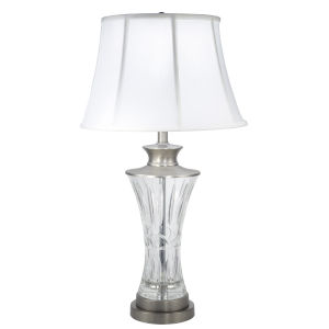 Springdale Zarrine Antique Nickel and White One-Light Crystal Table Lamp