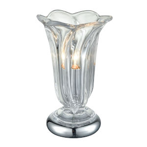 Polished Nickel Orbicular Crystal One-Light Accent Lamp