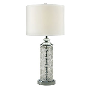 Polished Chrome One-Light 12-Inch Table Lamp