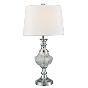 Springdale Polished Chrome and White Frosted Murray One-Light Crystal Table Lamp