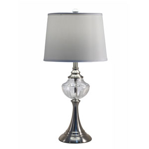 Brushed Nickel One-Light 13-Inch Table Lamp