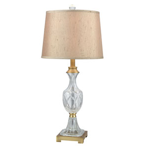 Golden Antique Brass One-Light 13-Inch Table Lamp