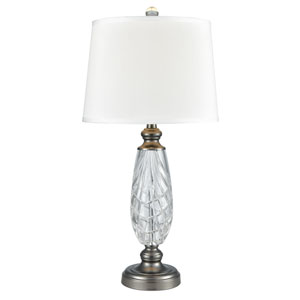 Antique Nickel One-Light 14-Inch Table Lamp