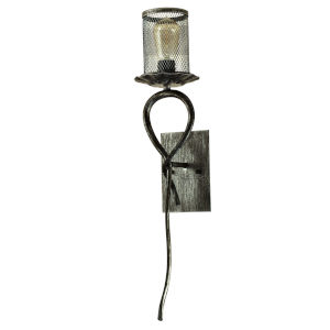 Springdale Silver and Black Ernie One-Light Mesh Wall Sconce