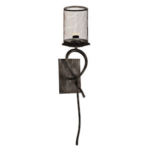 Springdale Silver and Black Desi One-Light Mesh LED Wall Sconce