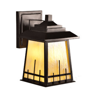 Springdale Oil Rubbed Bronze Clyde LED Tiffany Outdoor Wall Sconce